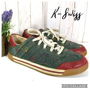 K-Swiss rare denim embroidered sneakers 8